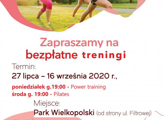 Treningi Power training i Pilates w Parku Wielkopolski